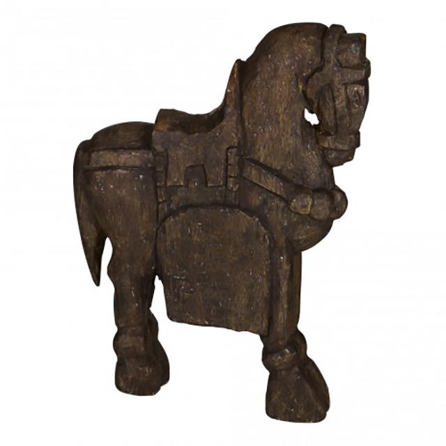 Bangli grey wooden horse PTM666745