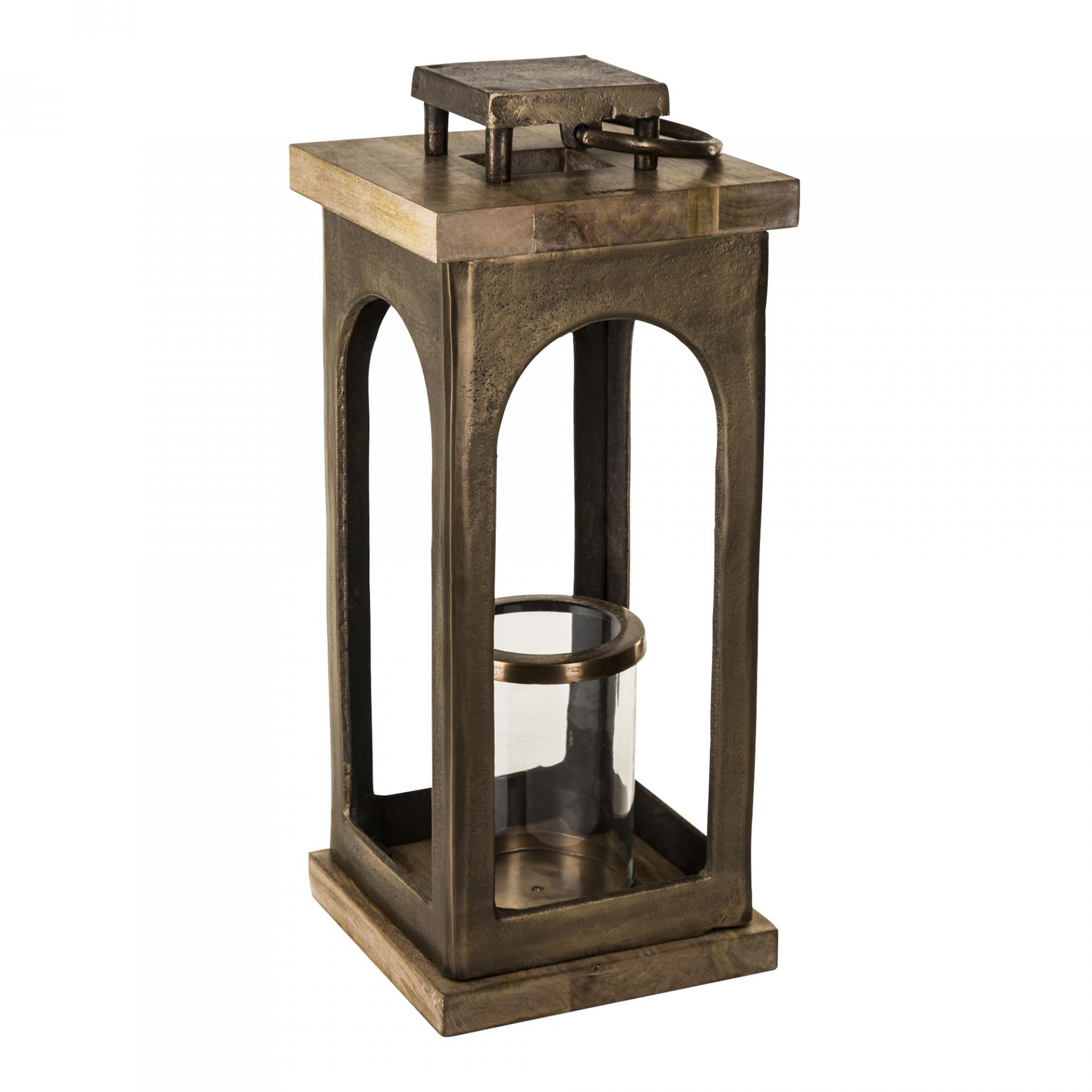 PTMD665169 Alu Brass Lantern