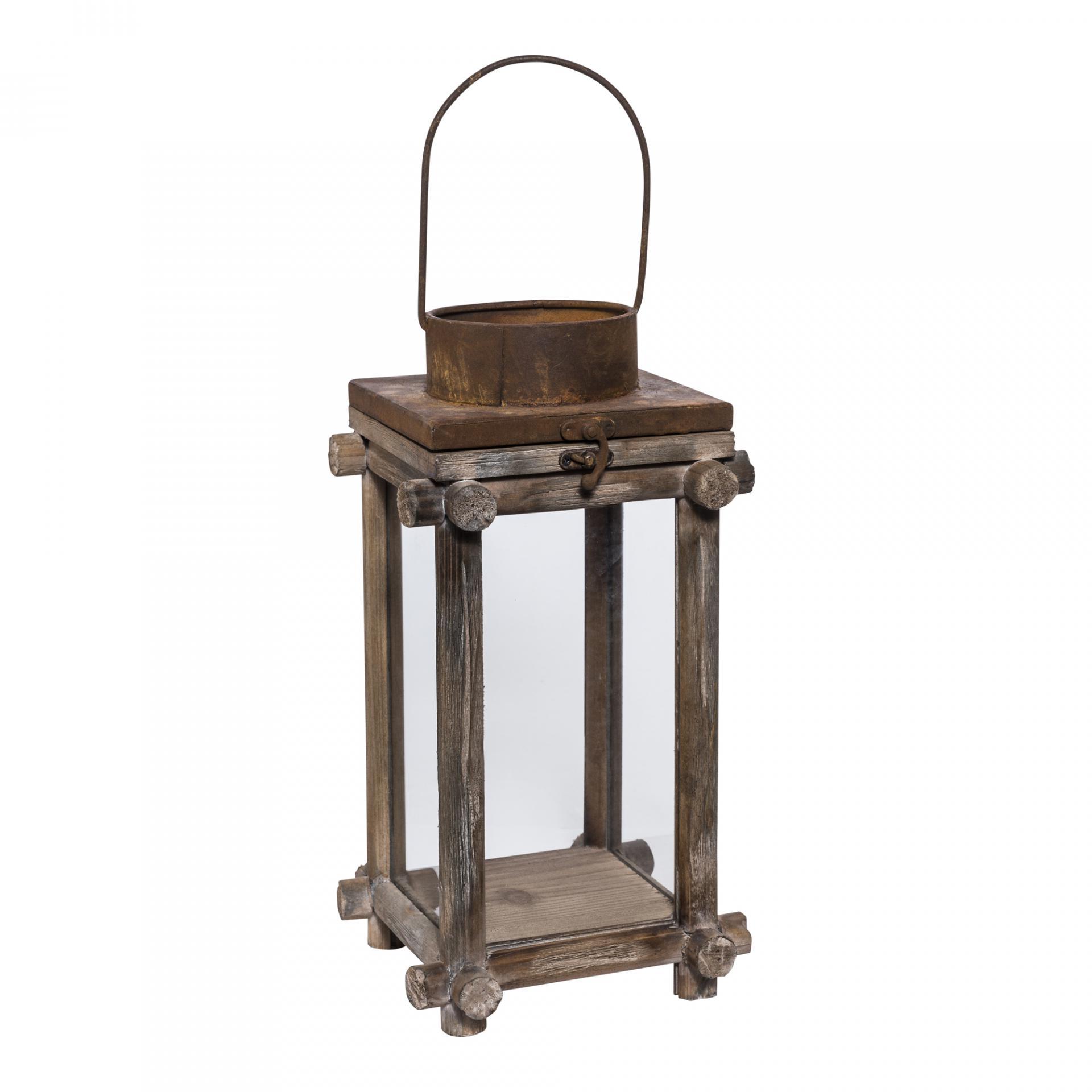 PTMD674328 Sabi hout lantaarn