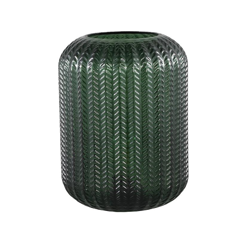 Larson Green Glass Table Lamp Motive Round