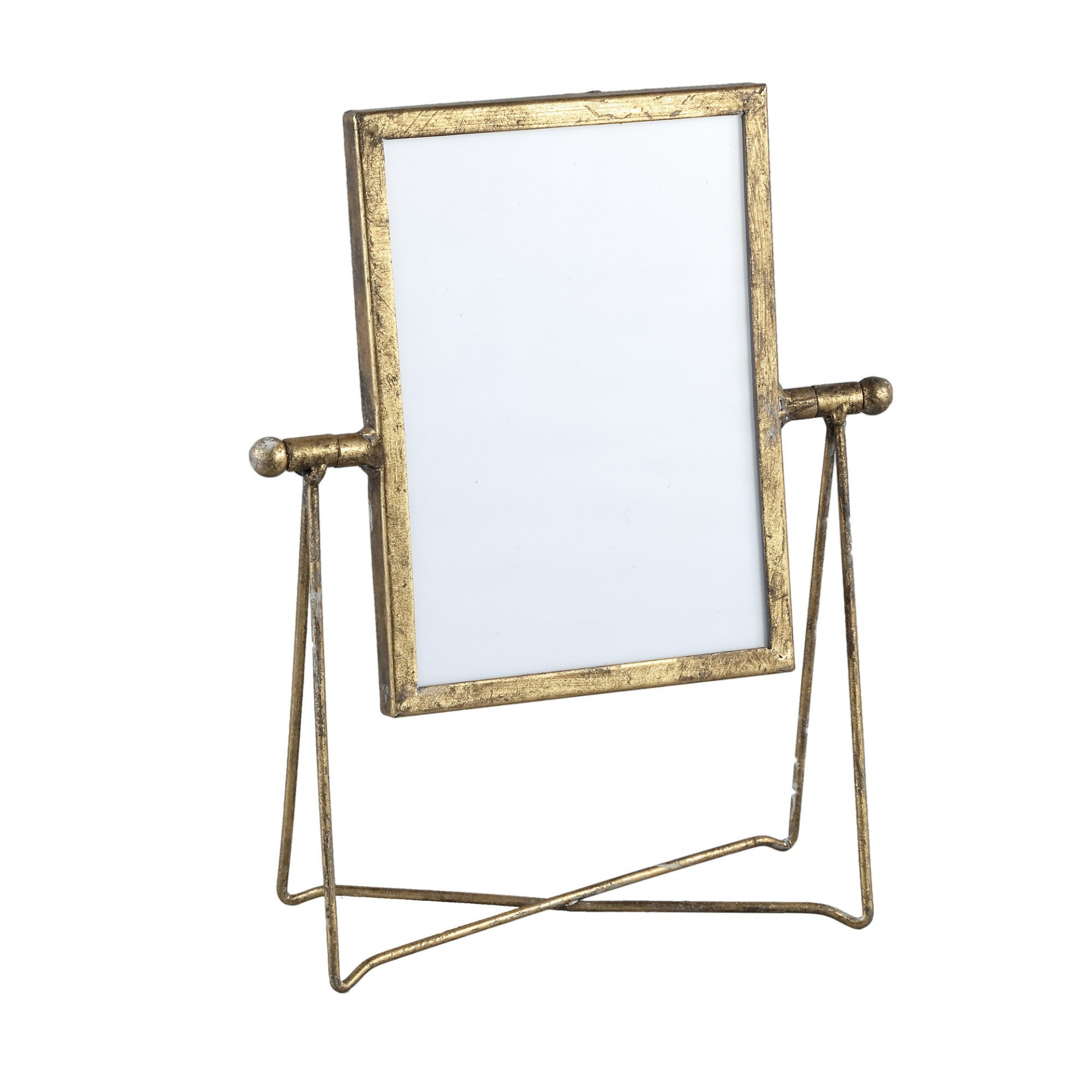 Nyla Gold Iron Photoframe in Holder Rectangle L