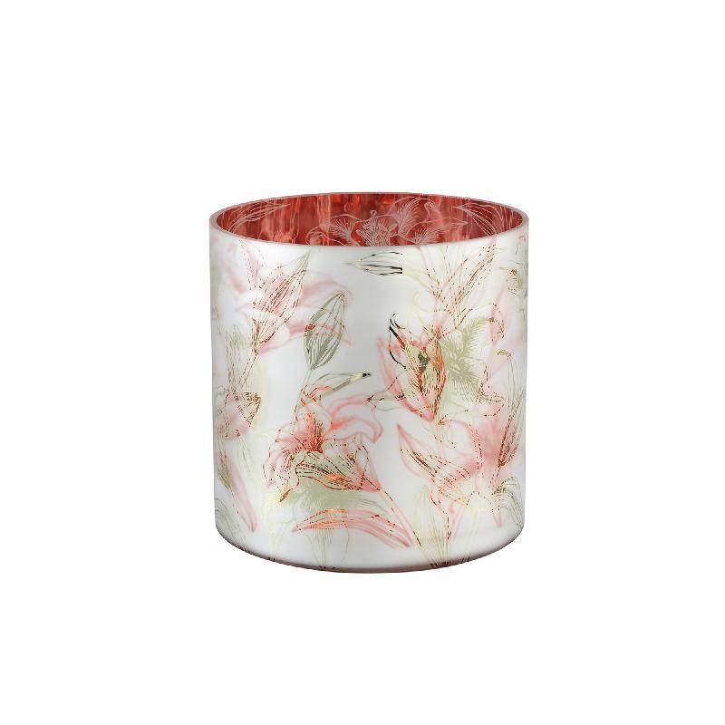 Lillian White Glass Stormlight Red Inside Lely L