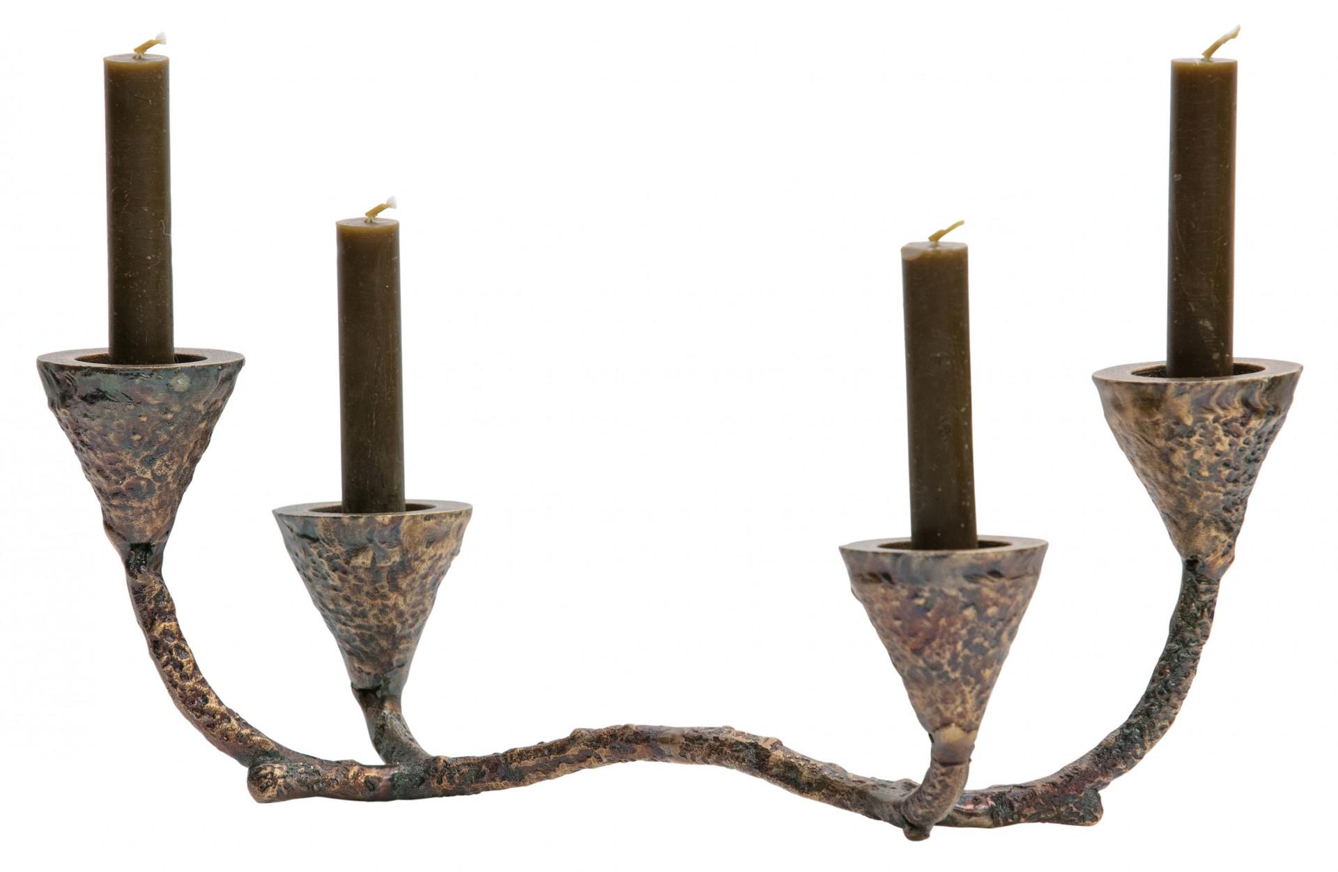 Ground Kandelaar Metaal Antique Brass