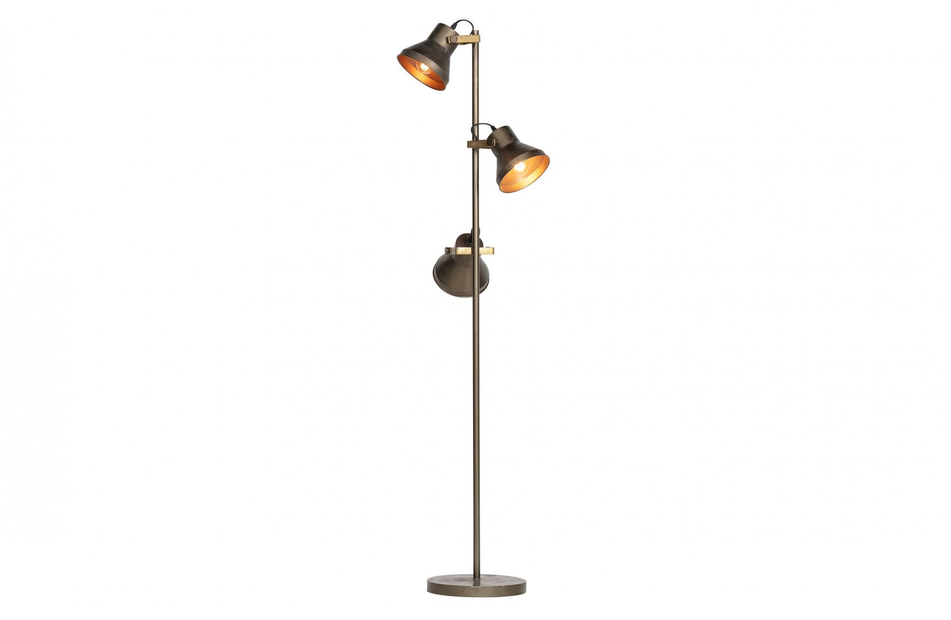 Triplet Staande Lamp Metaal Antique