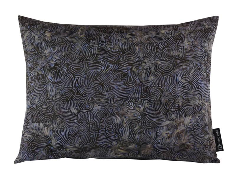 Kussen Batik Cotton Dark Blue