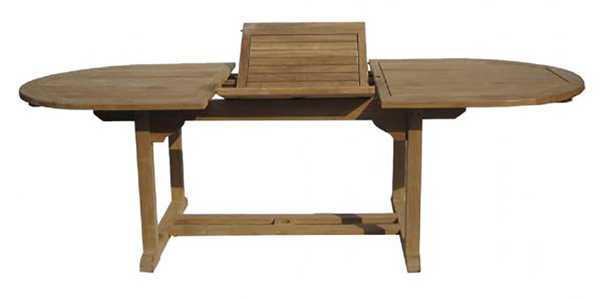 Table de jardin extensible teck, différentes tailles