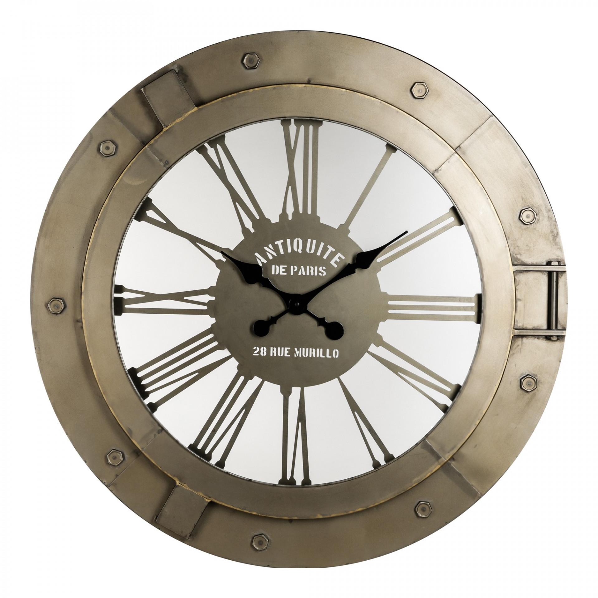 Fabric métale clock ronde