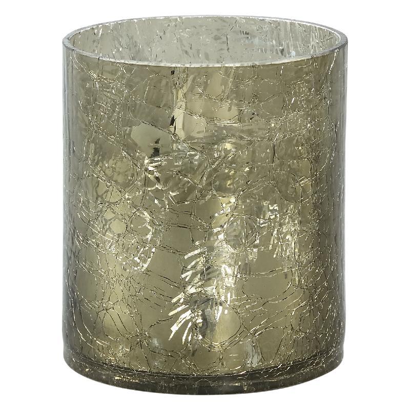 Diyaz Glass Shiny Grey Stormlight Votive Round M