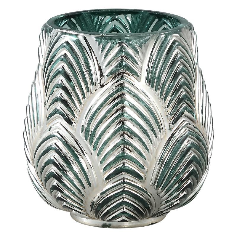 Dano Silver Glass Stormlight Votive Bombey Round S