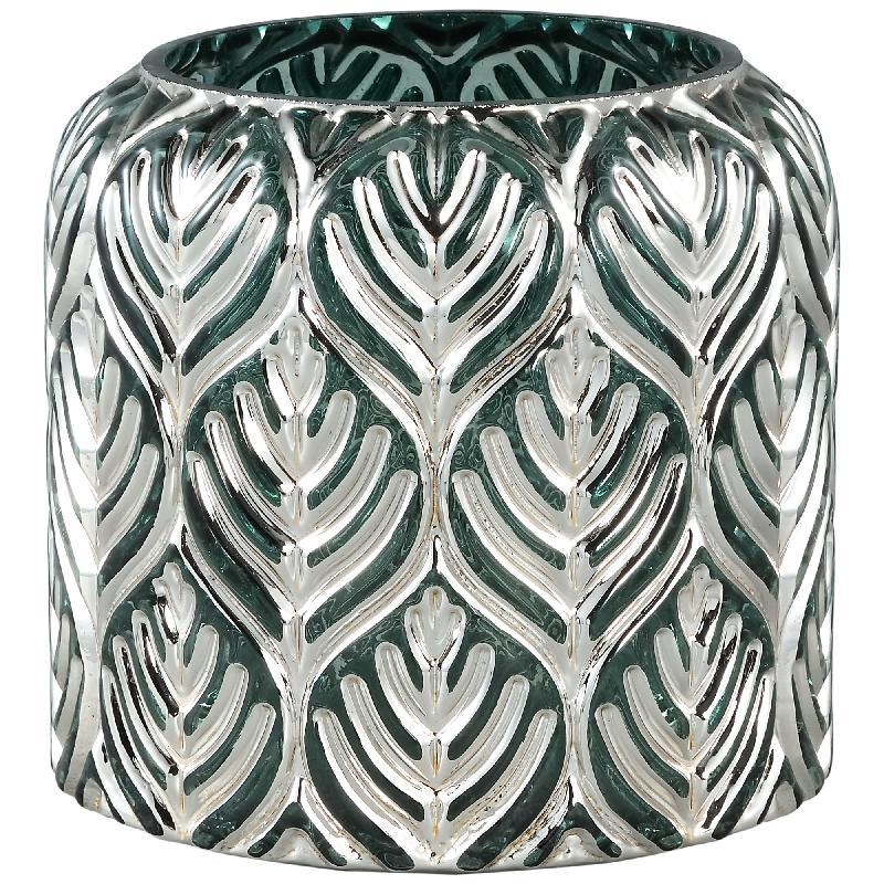 Dano Silver Glass Stormlight Votive Straight L