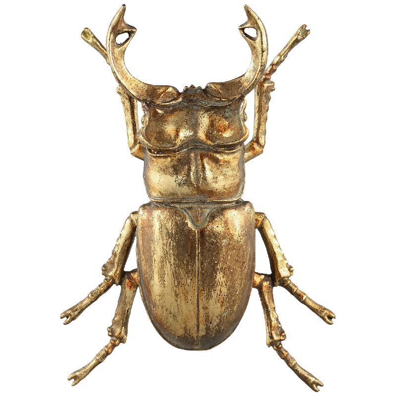 Crustacean Gold Poly Beetle Statue