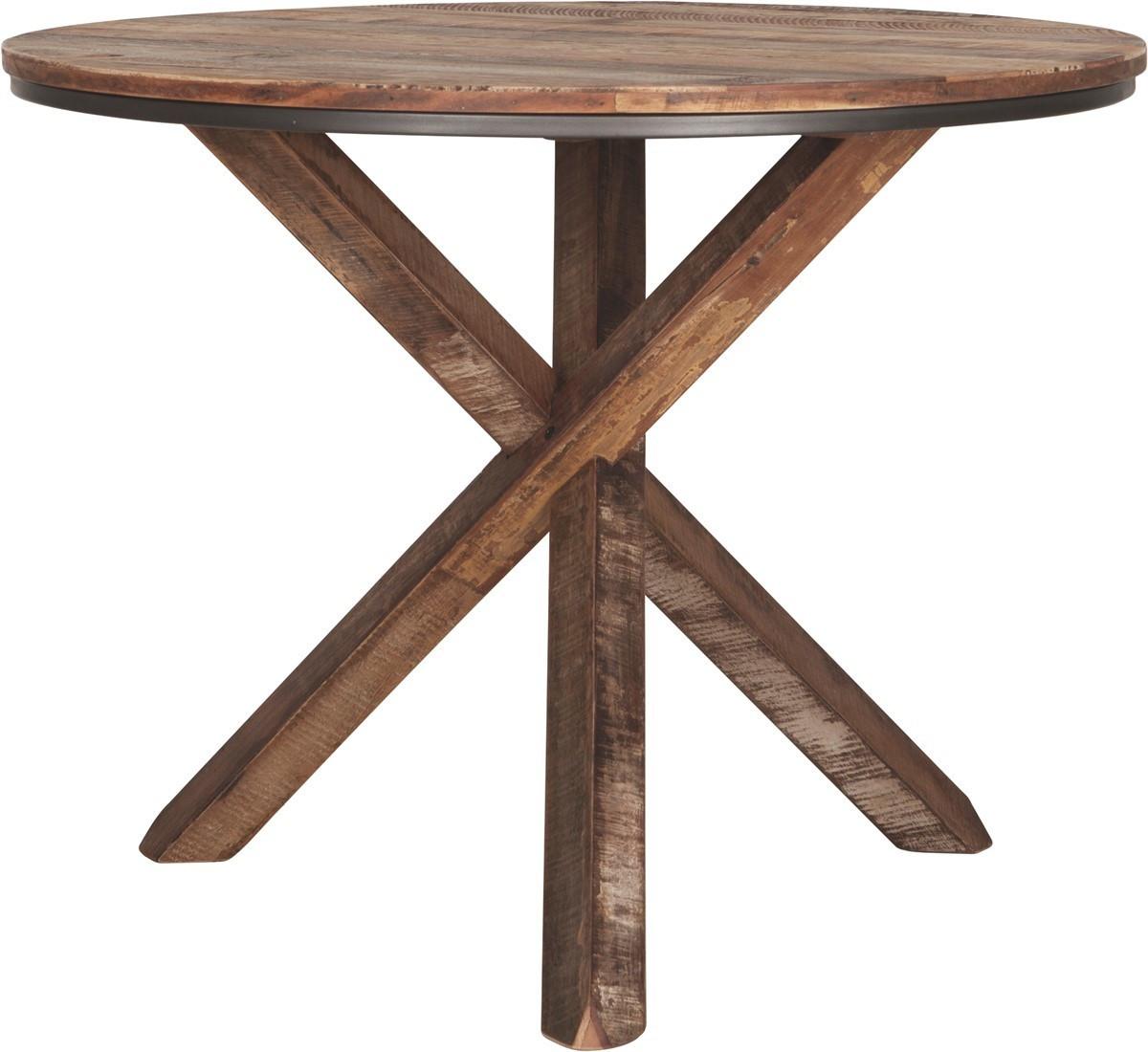 Table à manger Touareg ronde pieds croix