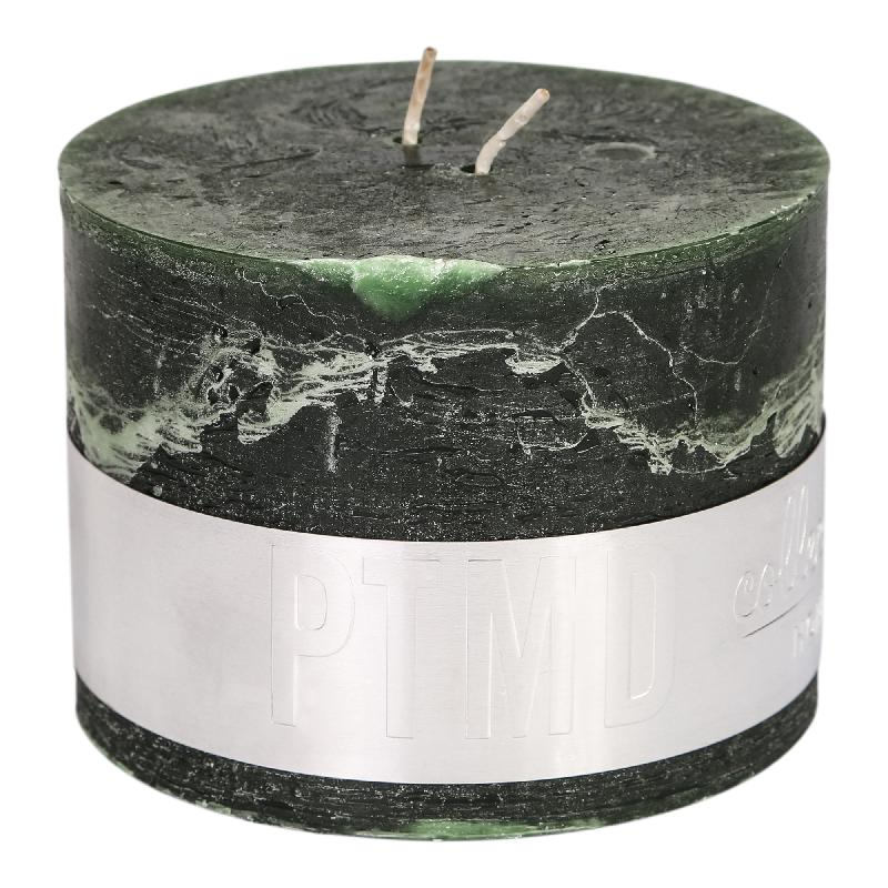Rustic Dark Green Block Candle