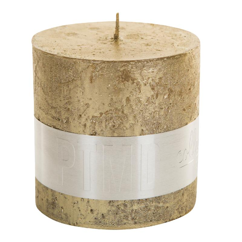 Rustic Gold Block Candle