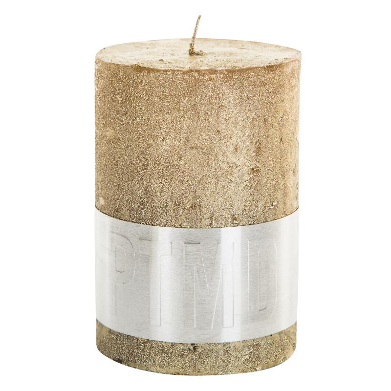 Rustic Gold Pillar Candle
