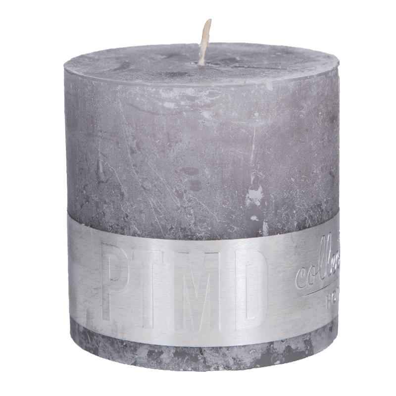 Rustic Suede Grey Block Candle