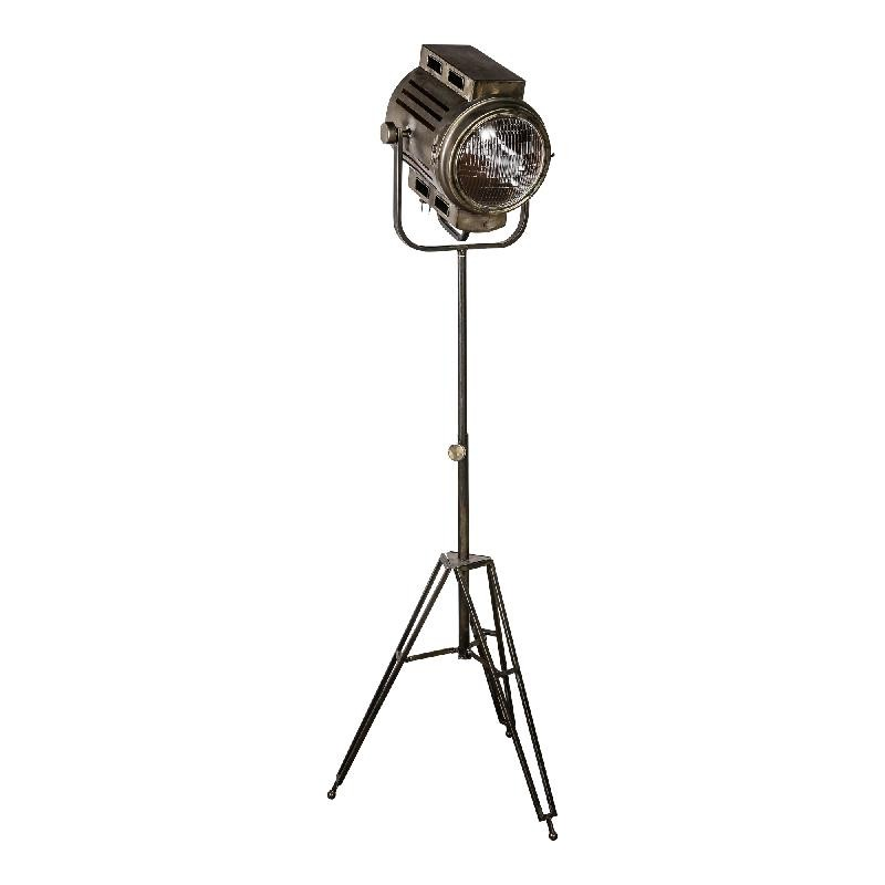 Asher Brass Metal Standing Studio Lamp