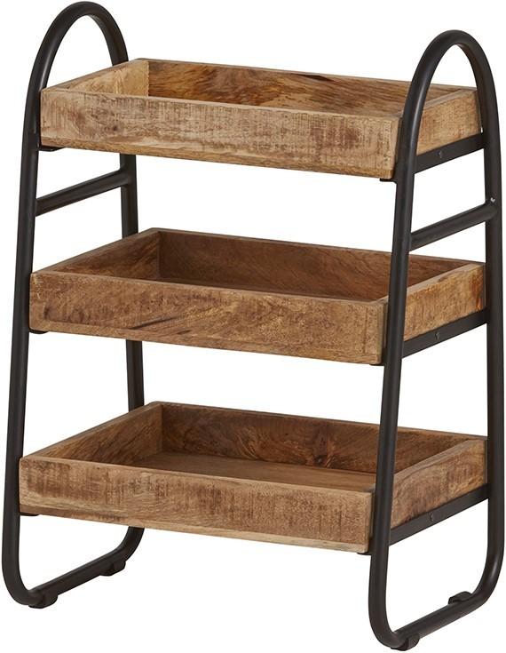 Tijdschriftenrek met houten bakken New Bestseller