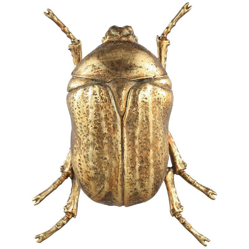 Crustacean Gold Poly ladybug Statue