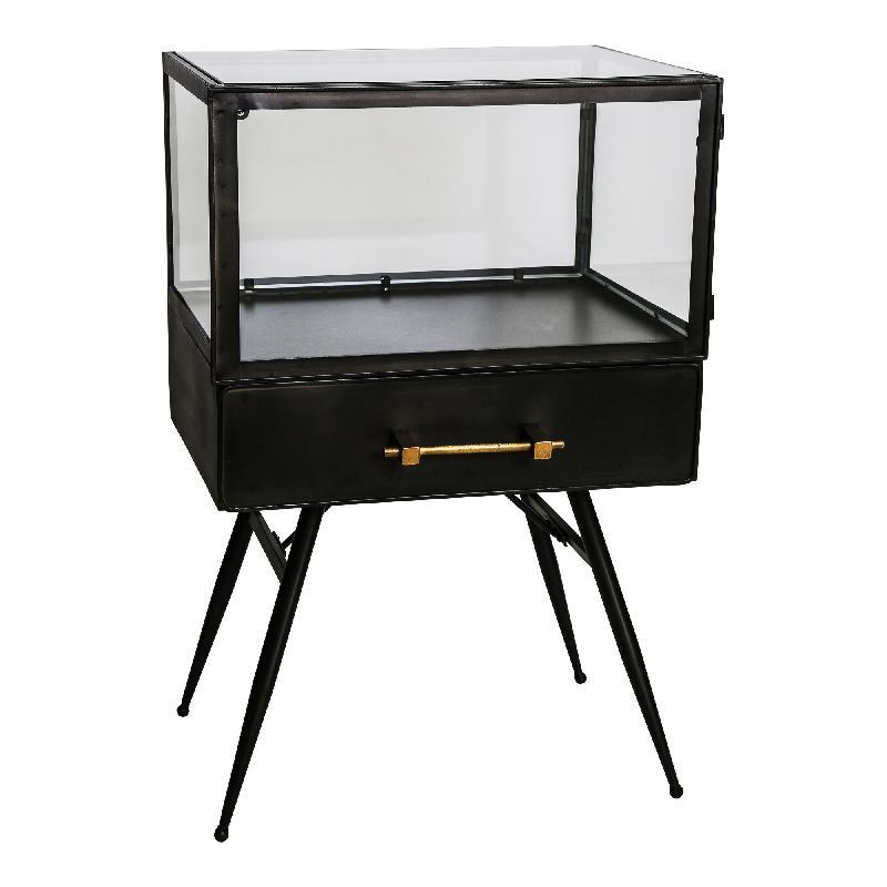 Bijzetkast Jago Black small Iron/Glass