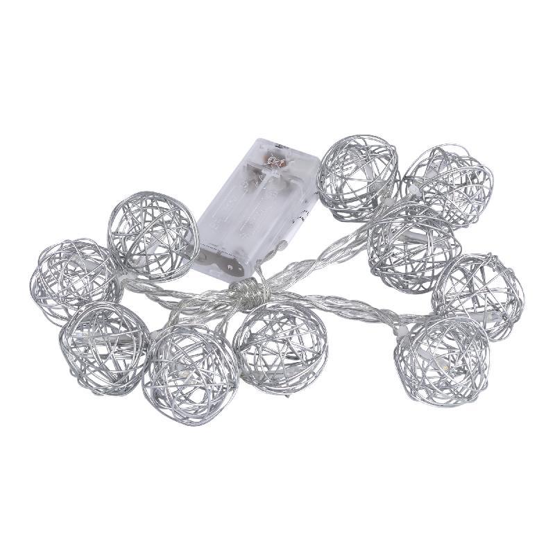 Lichtjes Christmas Snooz Silver iron wire ball