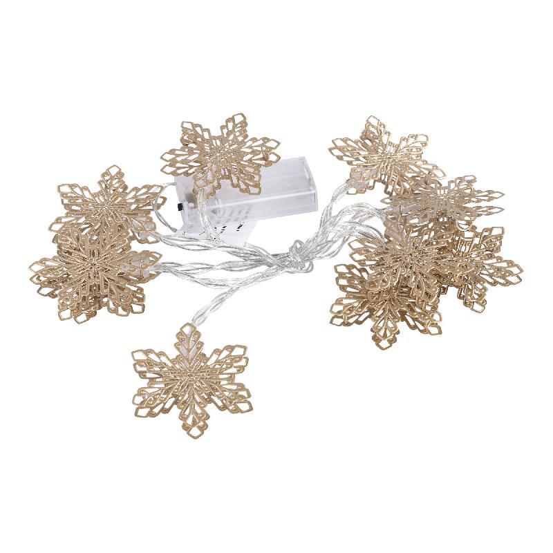 Lichtjes Christmas Snooz Gold iron snowflakel