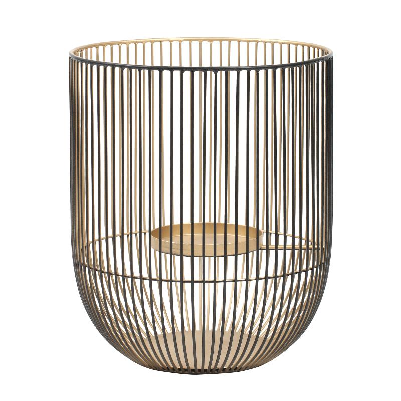 Stormlicht Caged Light Black/Gold Round S