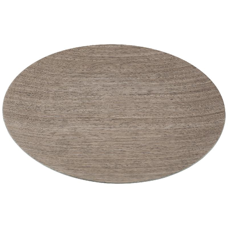 Wood Look brown under plate round