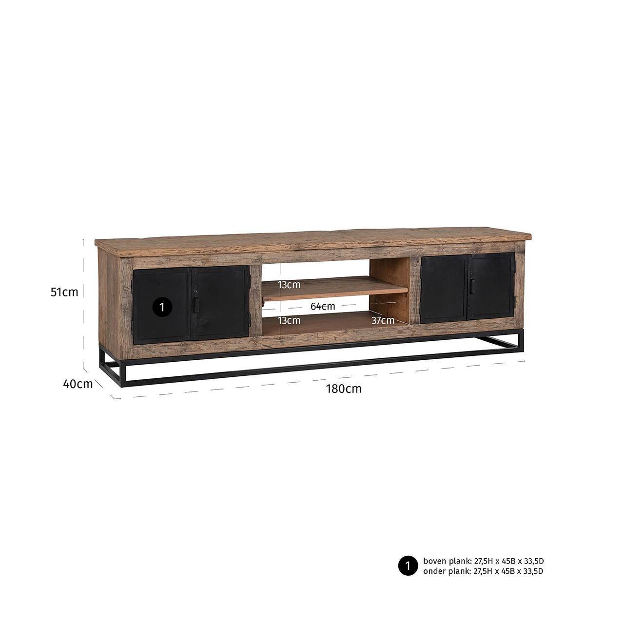 Tv meubel Raffles - 4 deuren