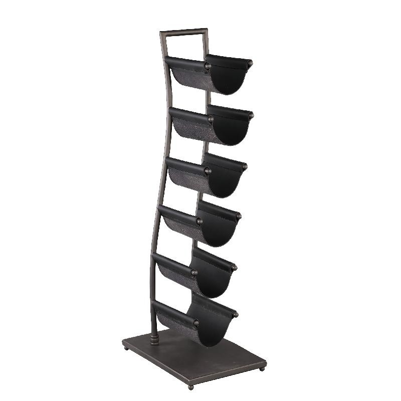 Torben Black metal wave winerack