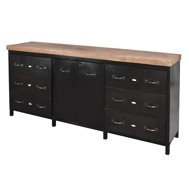 EL45000 Dressoir 2-drs. - 6 laden
